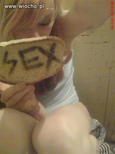 G�odnemu chleb na my�li ...