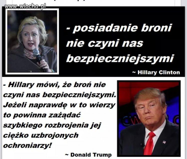 Donald Trump gasi Hillary
