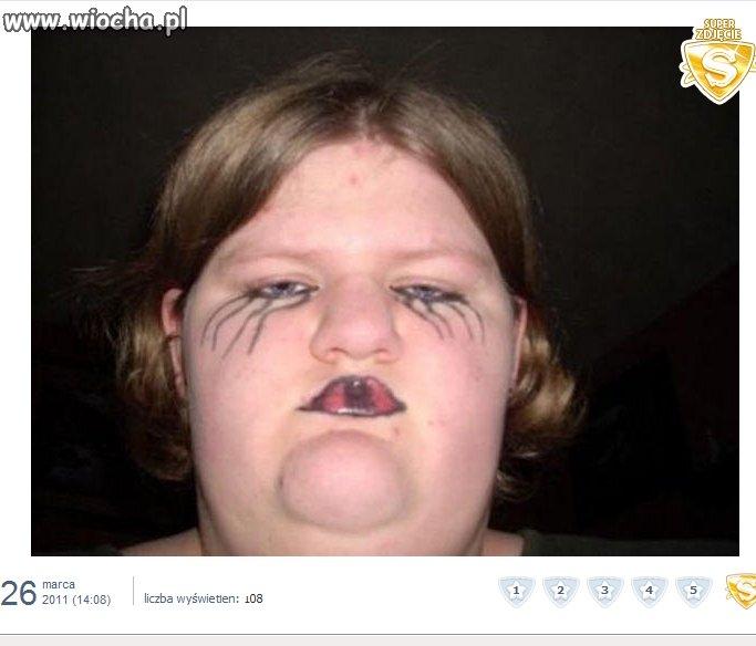Emo makijaż