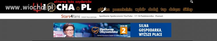 Wiocha dla wiocha.pl za reklamy wrzodu Polski
