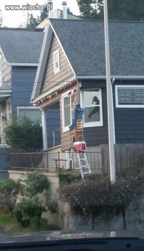 Janusz dekoruje dom
