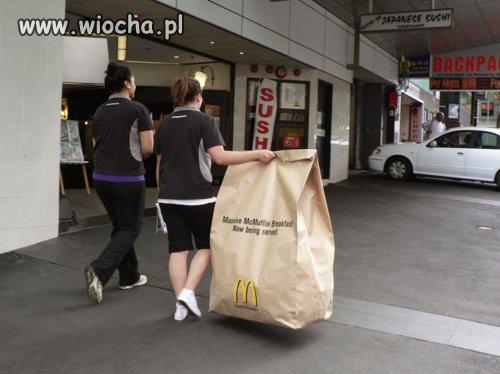 Zakupione przekąski  w McDonald's
