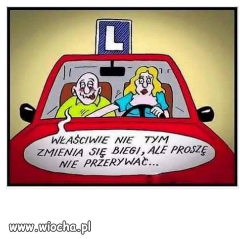 Nauka jazdy.