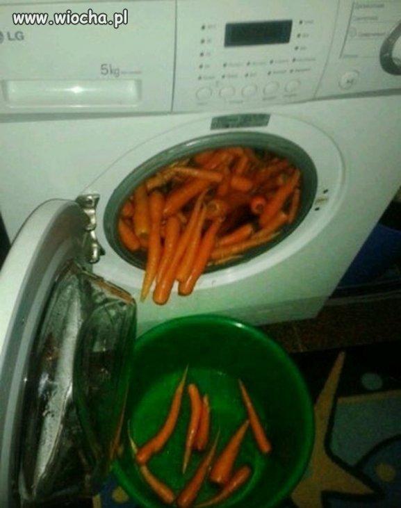 Pranie marchewki