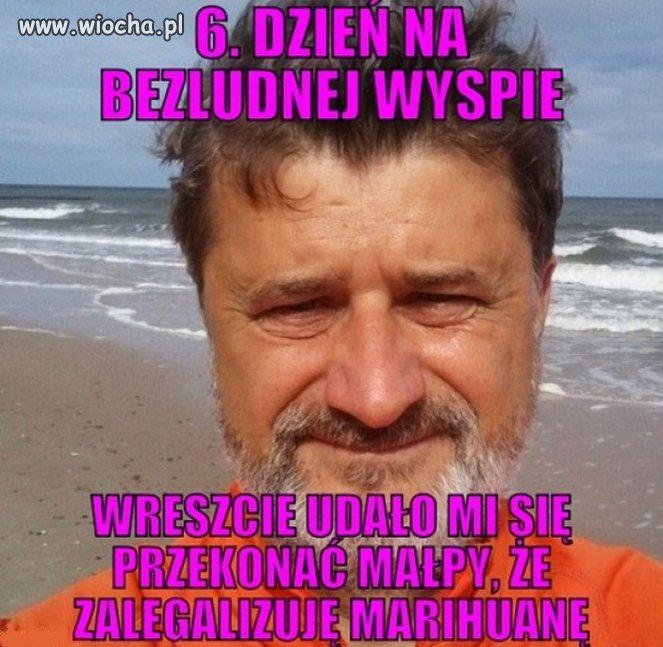 Typowy Janusz na plaży