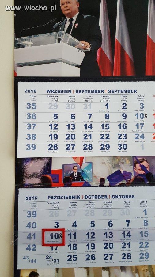 Kalendarz PISrelli w jednym z urzędów