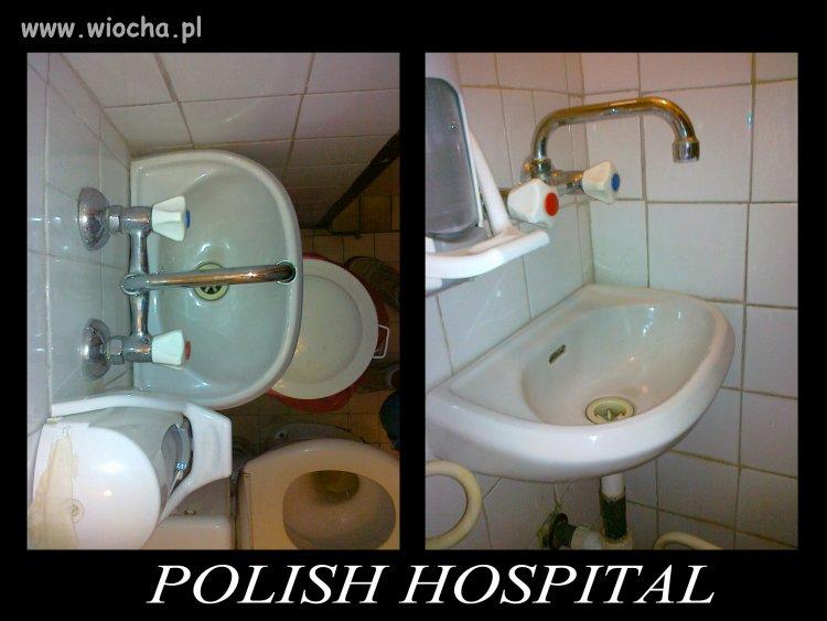 Tymczasem w polskim szpitalu...