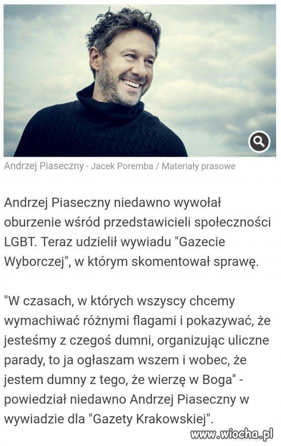 Andrzej Piaseczny, osoba homoseksualna