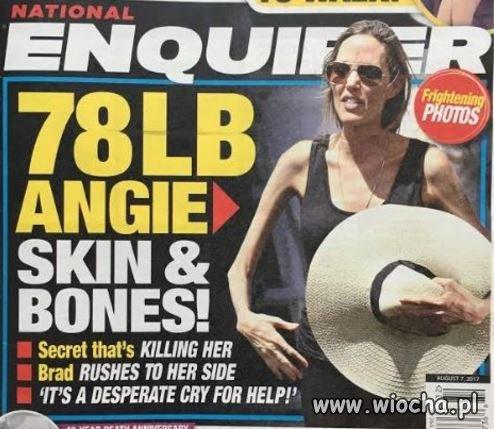 Angelina Jolie waży 35kg