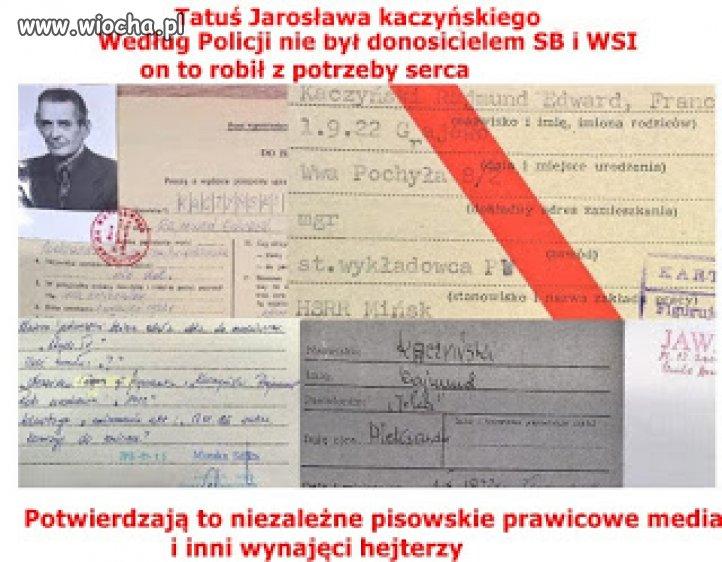 Teczka kiszczaka zawiera tajne dokumenty kaczyńskiego