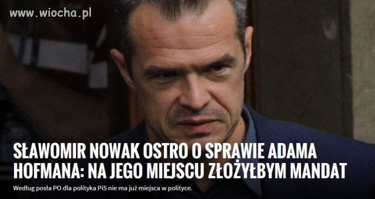 Sławomir Nowak nie ma wątpliwości
