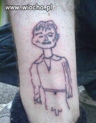 """Dzieło """"utalentowanego"""" tatuażysty..."""