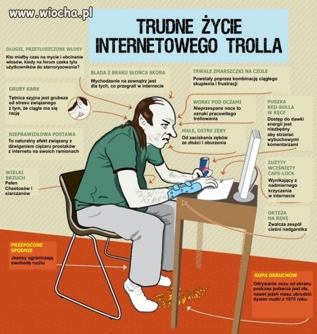 Trudne �ycie internetowego trolla