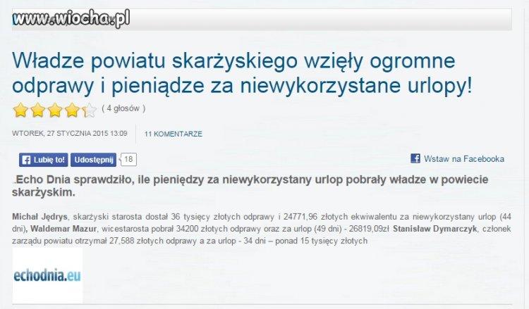 Podobno Skar�ysko jest 2-im najbardziej zad�u�onym