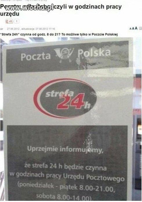 W Polsce doba trwa 0d 8 do 21 w tygodniu