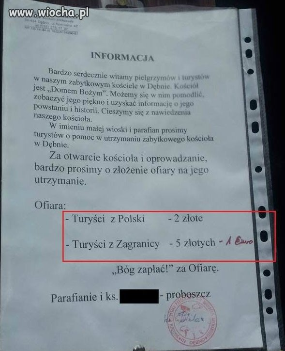 Informacja parafialna