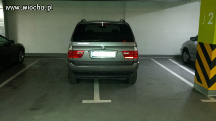 Galeria Siedlce parkowanie buraka z BMW