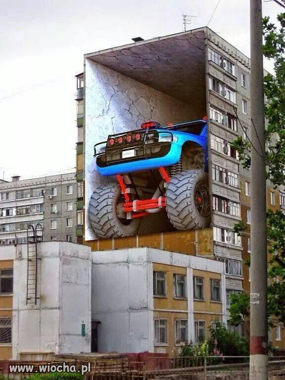 Auto w bloku