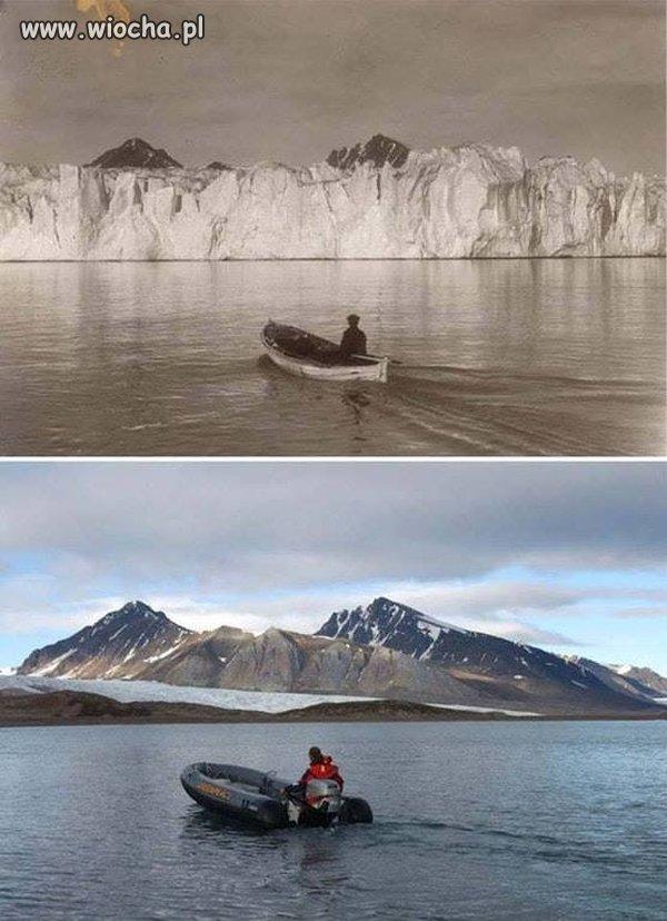 Arktyka - pierwsza fota oraz obecna