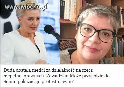 Medal dostała