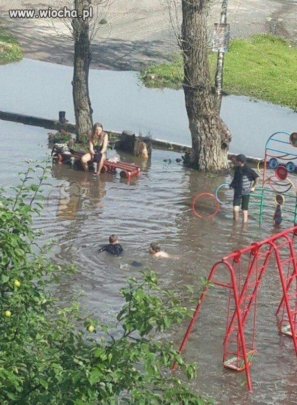 Aquapark w pewnym mieście