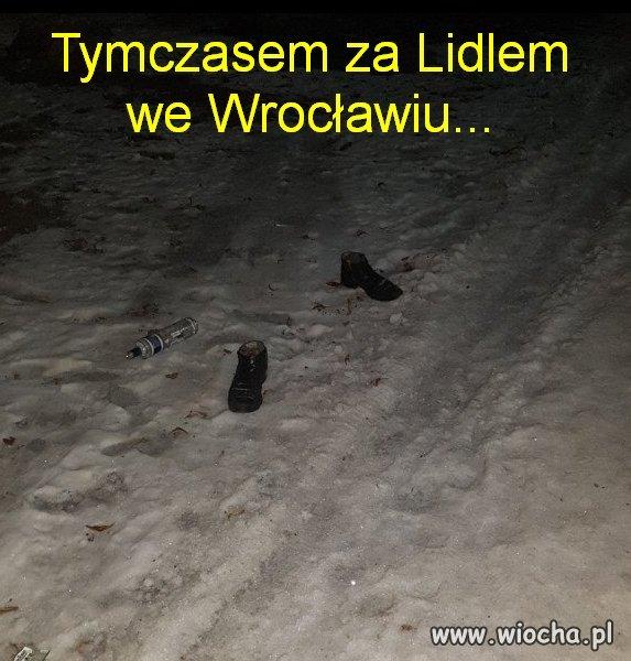 Tymczasem za Lidlem we Wrocławiu...