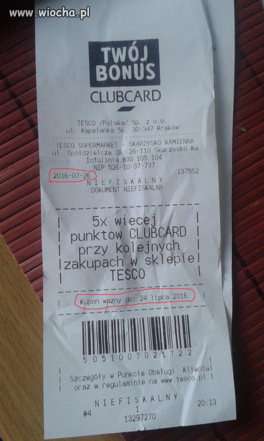 Nieważny kupon w TESCO