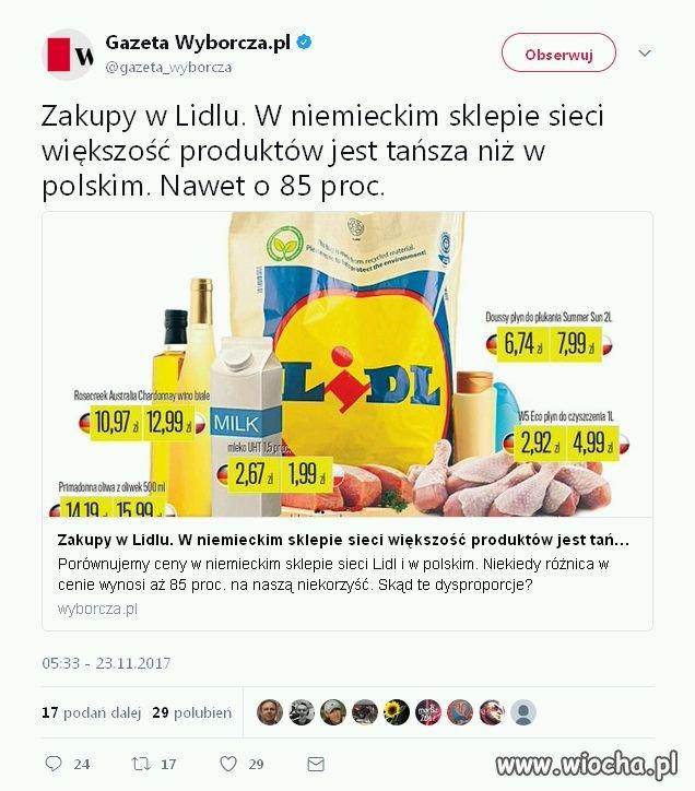 Ceny w Lidlu