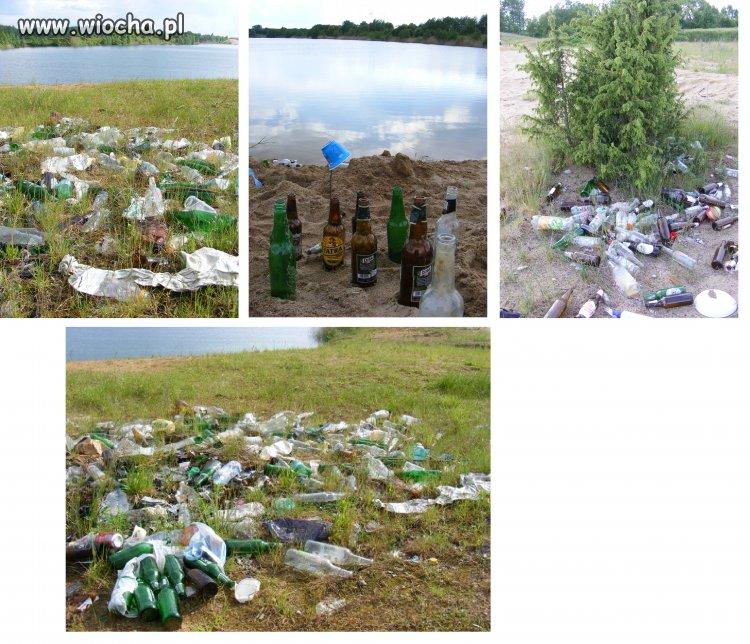 Nasza piękna przyroda z perspektywy góry śmieci.