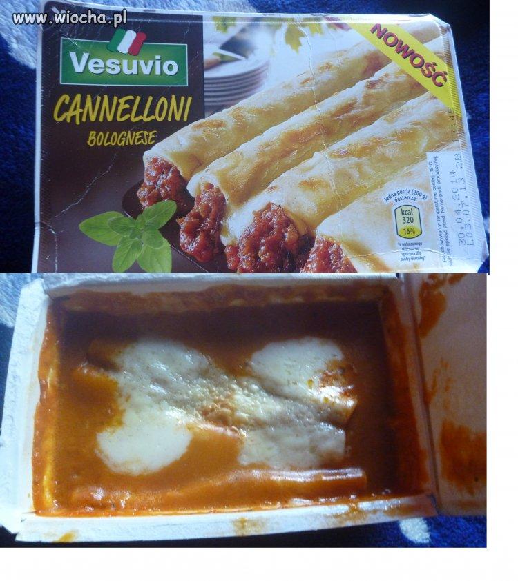 Jedzenie z Biedronki - obrazek i rzeczywistość.