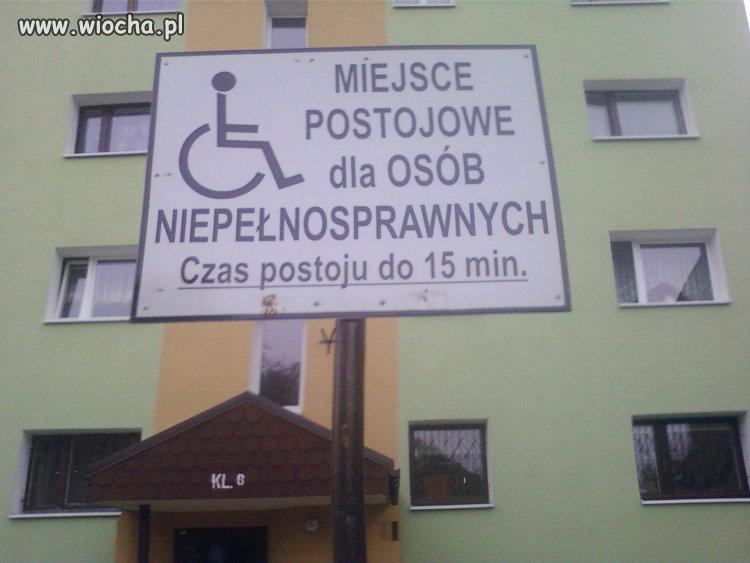 To się nazywa szacunek dla inwalidów.