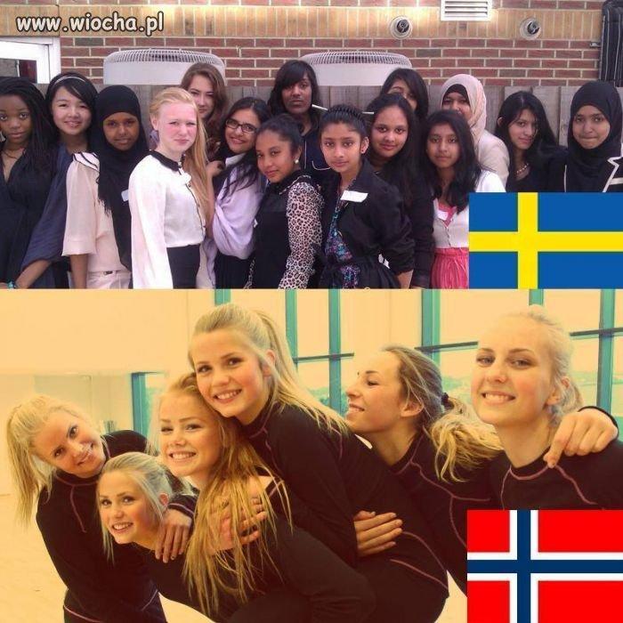 Szwecja i Norwegia.