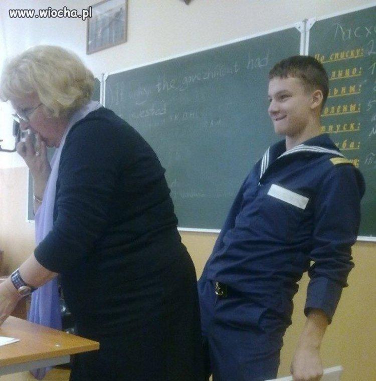 Szacunek do nauczyciela...