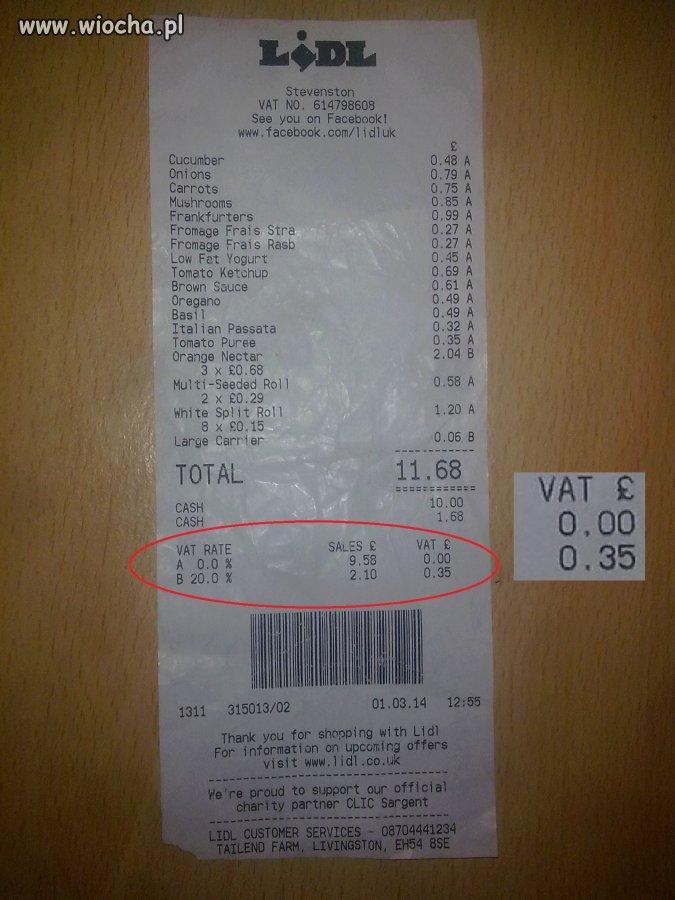 Ma�e zakupy w Lidlu w Anglii p�atno�� ok 56z�
