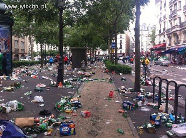 Euro 2016. ulice Paryża po meczach...