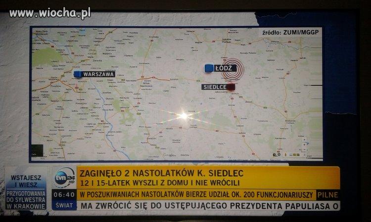Mapa Polski dla widzów TVN24