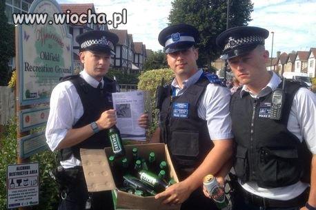 """Angielska policja tez lubi """"LESZKA"""""""