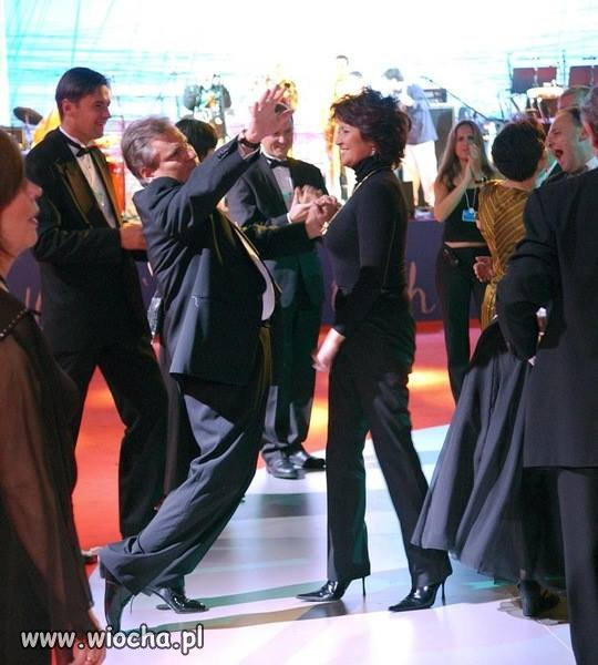 Vincent Vega z pierwszą damą.