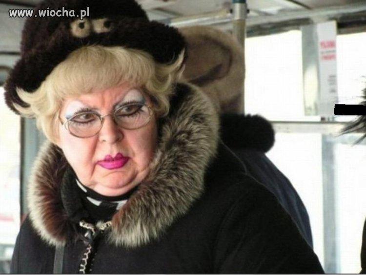 Pani 70+ i jej makijaż
