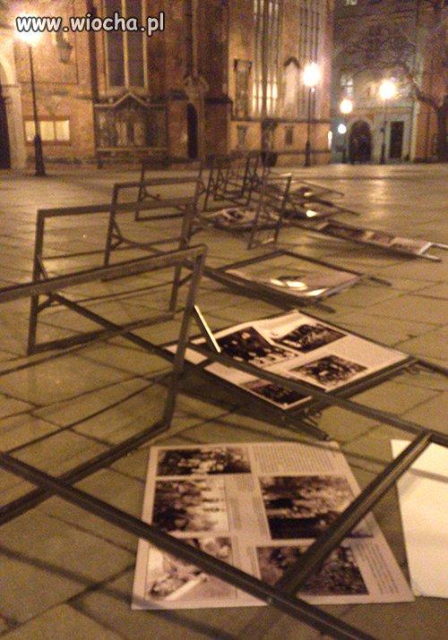 """Zniszczona wystawa o """"żołnierzach Wyklętych"""""""