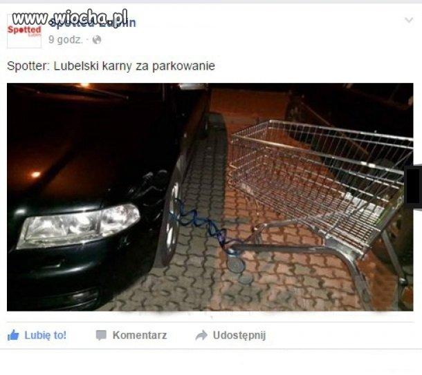 Karny wózek za