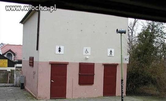 Toaleta dla inwalidów.