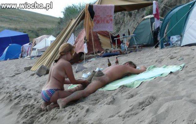 Córeczko jak było na plaży