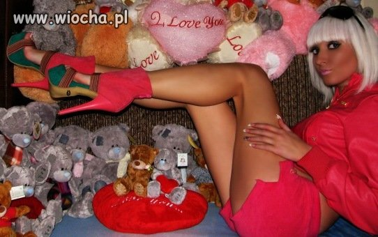 Słit różowa plastik focia