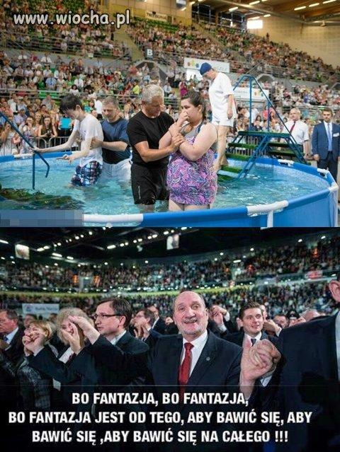Jedni się chrzczą,drudzy uzdrawiają
