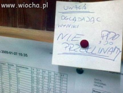 Pała z egzaminu