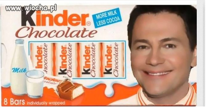 Konkurs na twarz kinder chocolate...