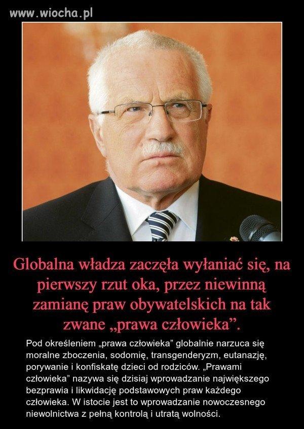 Vaclav Klaus.