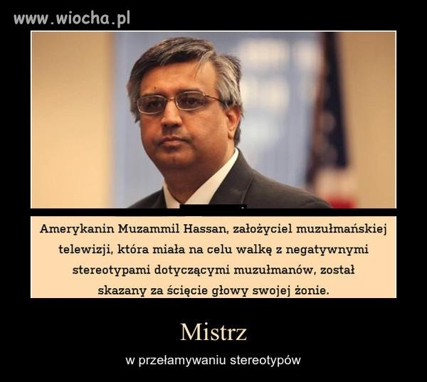 Muzułmanin przełamujący stereotypy...