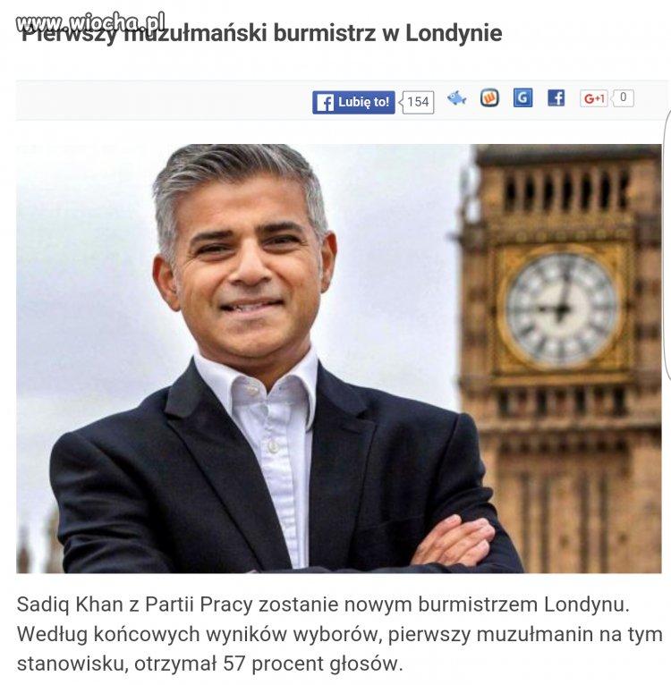 Prawdopodobnie nowy burmistrz Londynu